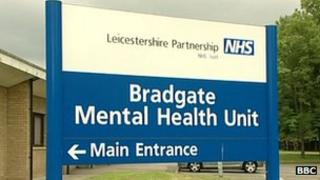 The sign outside the Bradgate Mental Health Unit.