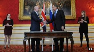 William Hague meets Russian counterpart Sergei Lavrov last month