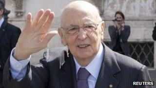 Italian President Giorgio Napolitano. Photo: April 2013