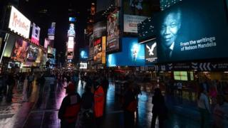 The Power Of Words film installation in Times Square