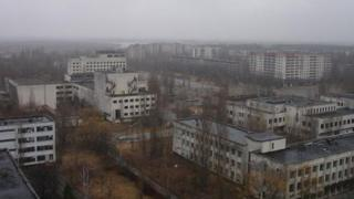 Abandoned buildings at Chernobyl
