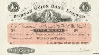 The Burton £5 note