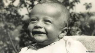 Robin Gibb as a baby