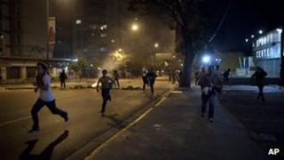 Protesters in Caracas, Venezuela (15 April 2013)
