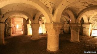 Oxford Castle crypt