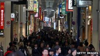 Shoppers in Osaka