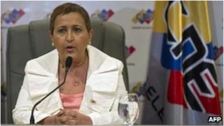 Venezuela's electoral body's president, Tibisay Lucena