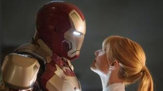 Gwyneth Paltrow and friend in Iron Man 3