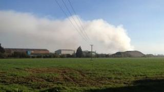 Fire at Long Marston
