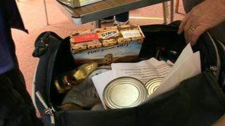 Food bank parcel