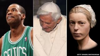 Jason Collins, Pope Benedict, a model of a Jamestown teenager