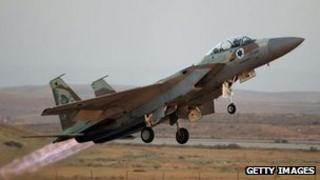 An Israeli fighter (file photo)