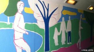 Mural on Hardwicke Circus subway to Bitts Park