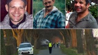 Lukasz Slaboszewski (l), John Chapman (c) and Kevin Lee (r) were found in ditches