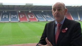 Charles Allen was non-executive director of the London Olympics which held events at Hampden Park