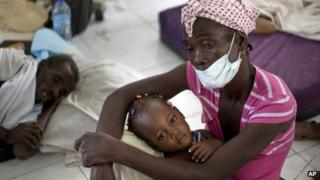 Cholera victims in Haiti