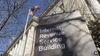 Exterior shot of Internal Revenue Service Building file picture