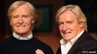 Ken Barlow with the waxwork