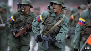 Venezuelan Army soldiers