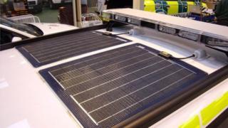 Solar panels on SCAS ambulances
