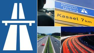 Composite of autobahn related images