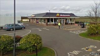 The McDonald's restaurant on the outskirts of Raunds