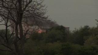 Croft Quarry fire