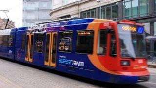 Supertram in Sheffield