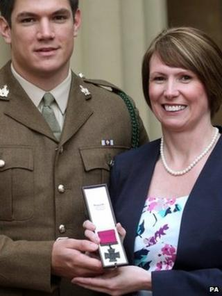 Kerry Ashworth who attended the ceremony with her other son L/Cpl Coran Ashworth, also in the army