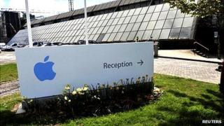 Apple Operations International, a subsidiary of Apple, is seen in Hollyhill, Cork, in the south of Ireland