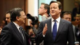 EU Commission President Barroso and UK Prime Minister Cameron, 22 May 13