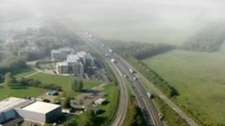 A14 aerial view