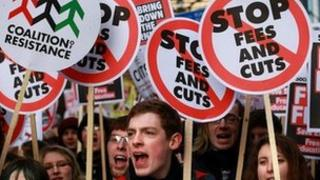Tuition fee protests