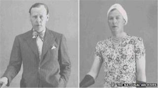 Lieutenant Colonel Dudley Clarke dressed as a man and a woman