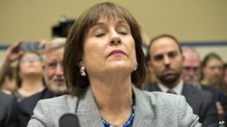 Lois Lerner at a congressional hearing in Washington DC, 23 May 2013