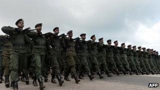 Sri Lankan soldiers (May 2013)