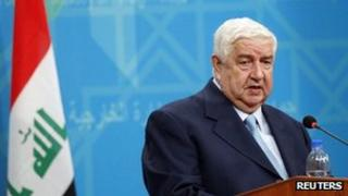 Syrian Foreign Minister Walid Muallem in Baghdad (May 26 2013)