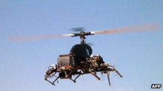 Military helicopter drone in Israel - file pic