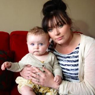 Rachael MacColl and her baby Eriskay