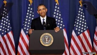 President Obama speaks at the National Defense University on 23 May
