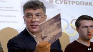 Boris Nemtsov presents his report in Moscow. Photo: 30 May 2013