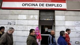 Spain's unemployment rate is the second-highest in the eurozone