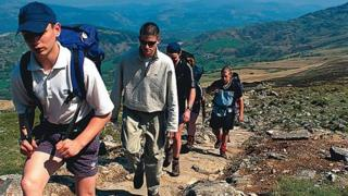 Walkers in Snowdonia