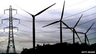 Wind turbines in Cowdenbeath, Fife, Scotland