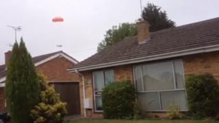Image of plane landing