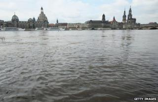 A view of Dresden from the river, 6 June