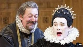 Stephen Fry and Mark Rylance in Twelfth Night