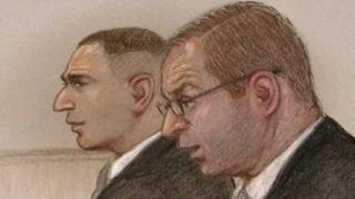 Court artist's impression of Robert and Ian Stewart