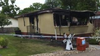 Fire-damaged bungalow in Stanton 10/6/13