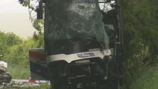 Cranborne Road crash scene